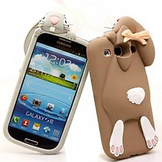 Lovely Cartoon Rabbit Pattern Silicone Soft Case for Samsung S3 I9300 (Assorted Color)  – EUR € 10.11
