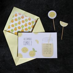 LEMONADE PARTY INVITATION AND TOPPERS