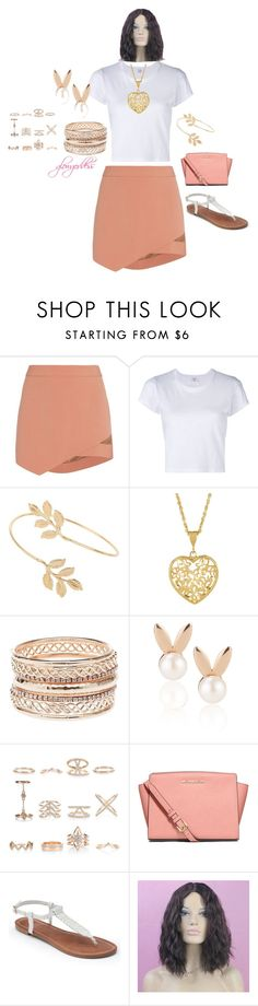 """casual"" by glowgoddess on Polyvore featuring Michelle Mason, RE/DONE, Miss Selfridge, Charlotte Russe, Aamaya by priyanka, New Look, MICHAEL Michael Kors and Apt. 9"