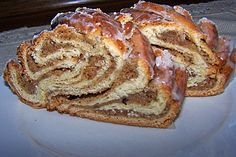 Nusszopf-original German sweet bread that is braided. An original and tradition and German recipe for a coffee cake. German Bread, German Baking, German Cake, German Coffee Cake, Austrian Recipes, Hungarian Recipes, German Recipes, French Recipes, Sweet Recipes