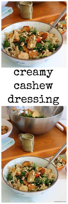 Creamy cashew dressing + 5 keys to a craveable salad | cadryskitchen.com #vegan
