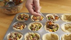 These tasty little pot pies are made with family friendly ingredients. They can be made ahead and frozen, then reheated when it is convenient.