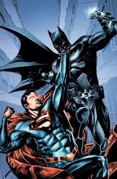 Batman Vs Superman, Batman Versus, Superman Suit, Iron Batman, Batman Fight, Superman Artwork, Marvel Dc Comics, Hq Marvel, Comic Book Characters