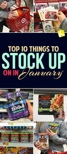 Here's the top 10 things you should totally stock up on this month.