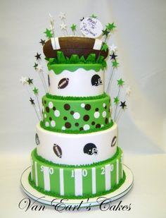 Fancy superbowl football cake