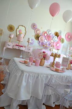 Princess Tea Party via baby shower ideas and shops. Great ideas for princess baby shower or tea party baby shower #babyshowerideas