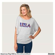 #AmericanFlag #USA #AthleticHeatherGrey #CanvasFlowyCircleTop by #MoonDreamsDesigns #PatrioticStyle #4thOfJulyFashion