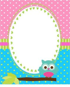 Borders For Paper, Borders And Frames, Owl Writing, Fun Crafts, Paper Crafts, Canson, Freebies, Binder Covers, Note Paper