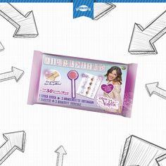 3 Tatuaggi a braccialetto di #Violetta e 1 dolcissimo lecca lecca per rallegrare la nostra giornata!  #lollipop