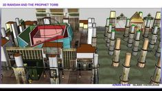 3D PROPHET MUHAMMAD TOMB AND RAWDAH ( Did you know the inside before ?) ...