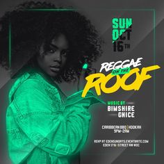Flyers for Reggae on the Roof on Behance Sports Graphic Design, Graphic Design Trends, Graphic Design Posters, Graphic Design Illustration, Graphic Design Inspiration, Typography Design, Branding Design, Event Poster Design, Flyer Design