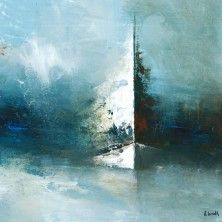 dream boat Source by Blue Abstract Painting, Boat Painting, Seascape Paintings, Abstract Landscape, Landscape Paintings, Art Drawings Beautiful, Boat Art, Art En Ligne, Acrylic Art
