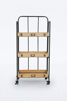 Wooden Tray Shelf