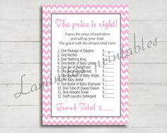 Baby shower games printable the price is right by LaminitasPrintables