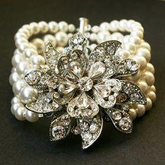Pearls and Crystal Bracelet by Digirrl