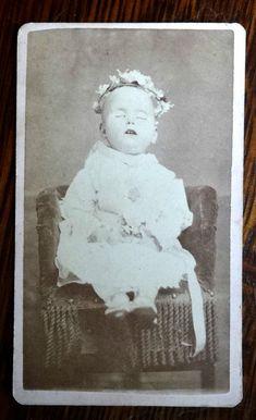 Antique Post Mortem CDV Photo Dead Baby from Leadville Colorado Mary Byrne | eBay