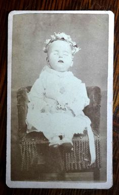 Antique Post Mortem CDV Photo Dead Baby from Leadville Colorado Mary Byrne | eBay