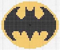 Batman Symbol Pattern (In Progress) by cadetenglish on DeviantArt Pony Bead Patterns, Loom Patterns, Quilt Patterns, Knitting Patterns, Cross Stitching, Cross Stitch Embroidery, Cross Stitch Patterns, Batman Crochet, Batman Quilt