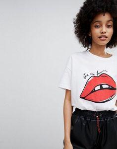 Bershka Lips Print Tee