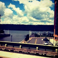 View of the Hudson from the Yonkers, NY  Railroad Station   #Yonkers