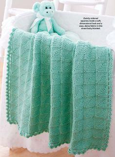 Big Pufana's Creations: Tunisian Mitered-Squares Blanket