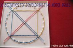 10 activities for developing fine motor skills #ece #preschool