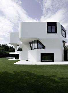 Futuristic Villa: Dupli Casa, Germany, future, luxury life, futuristic home, modern building, future architecture, minimalistic, futuristic house
