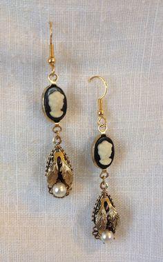 Dangle Earrings Upcycled Vintage OOAK Handmade by heartsoftoday, $20.00