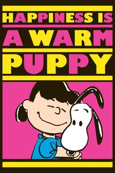 Sally hugs Snoopy