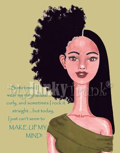 Indecision African American Natural Hair Afro by MyJunkyTrunk, Love this
