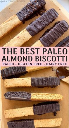 The Best Paleo Almond Biscotti - Gluten Free Recipes Paleo Bread, Paleo Baking, Gluten Free Baking, Paleo Diet, Paleo Food, Bread Baking, Bread Food, Gluten Free Grains, Dukan Diet