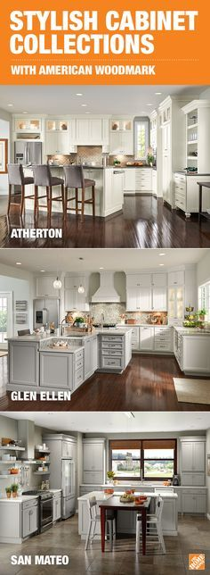American Woodmark cabinets bring a whole new level of organization to the kitchen. They're designed to cut out wasted space and give you clutter-free storage for all your cooking supplies and utensils. And with durable finishes that resist heat, humidity, warping and fading, your kitchen will look beautiful for years to come. See more on The Home Depot Blog!