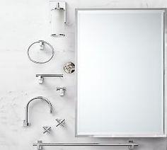 bath | Pottery Barn Best Bathroom Faucets, Bathroom Hardware, Small Bathroom, Bathroom Ideas, Master Bathroom, Bathroom Photos, Bathroom Renovations, Lavatory Faucet, Sink Faucets