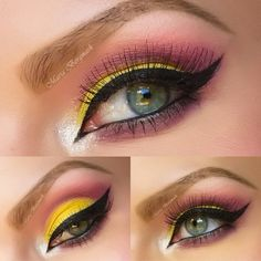 I love this cut crease with color