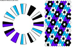 Kumihimo flower pattern  K5841 - friendship-bracelets.net