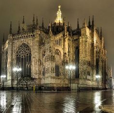 I'll Duomo, Milan, Italy.  Almost 600 years to complete!  How's that for dedication?  Groundbreaking 1386, completion 1965!!