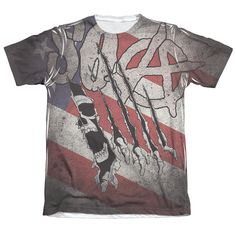High-quality, Officially licensed apparel. 60% Cotton / 40% Polyester, This item is hand-printed in the USA using a dye Sublimation printing process.