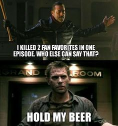 Lucifer is definitely more badass than Negan - i don't even watch TWD, but I know enough. And yes.lol