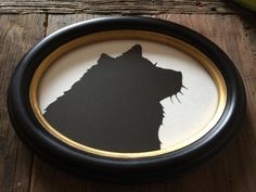 Oval Framed Custom Silhouette 5 by 7 Wall Art - Custom Family Portrait Silhouettes