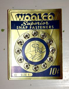 Vintage Woolco Superior Snap Fasteners Sewing Buttons 1950s by poetsy, $5.00