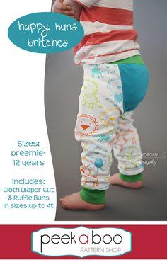 Peek-a-Boo Pattern Shop - Happy Buns Britches, $7.95 (http://www.peekaboopatternshop.com/happy-buns-britches/)