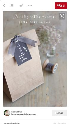 20 Clever Gift Wrap Ideas Using Simple Brown or White Paper…and the Winner Is! - Cindy Hattersley Design 20 Clever Gift Wrap Ideas Using Simple Brown or White Paper…and the Winner Is! Paper Packaging, Bag Packaging, Pretty Packaging, Packaging Ideas, Simple Packaging, Creative Gift Wrapping, Creative Gifts, Wrapping Ideas, Craft Gifts