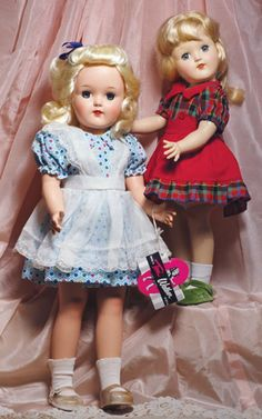 "~ Lovely Hard Plastic ""Toni"" Dolls By Ideal ~"