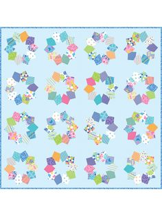 """Double Wide Dresden Quilt - $9.99 - ...This colorful quilt if fun! Finished size is 60 1/2"""" x 60 1/2""""."""