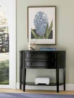 Powell Antique Black with Sand Through Terra Cotta Demilune Console Table, http://www.amazon.com/dp/B001J4OVVU/ref=cm_sw_r_pi_awdm_ji.Stb0PB7FY9