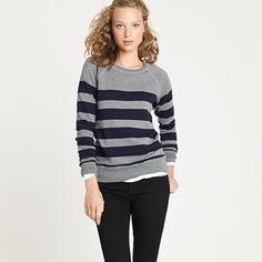 stripe popover sweatshirt.