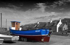 Fishing boats at Cruden Bay  Aberdeenshire