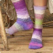 Cabled socks using Noro Taiyo Sock yarn