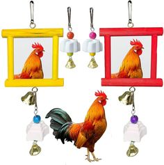 Chicken mirror toys for coop are made of wood and acrylic mirrors, and the parrot grinding stones are made of porous mineral stone, good for your pet birds to play and peck. The grinding stones are rich of calcium, great for pet hens' health while they are grinding. 【Practical design】Chickens are inherently aggressive, especially for roosters,When the chicken is poking at the mirror, the bell below will make a ringing sound, which can attract the chicken's attention. Small Chicken Coops, Acrylic Mirror, Parrot Bird, Mineral Stone, Cockatiel, Hens, Love Birds, Pet Birds, Pet Supplies