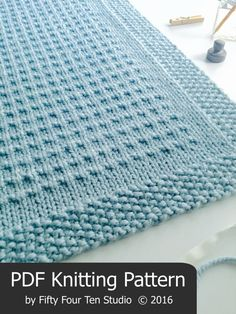 KNITTING PATTERN / Third Street Blanket / Throw / Afghan / Knit / Gift / Christmas / Wedding / Baby / Quick / Easy / PDF Instant Download